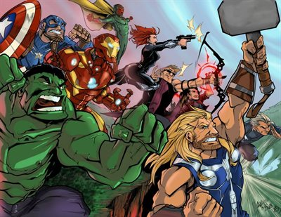 Avengers by Michael Watson, Inks provided by Gary Mitchell and colors by Veronica Smith