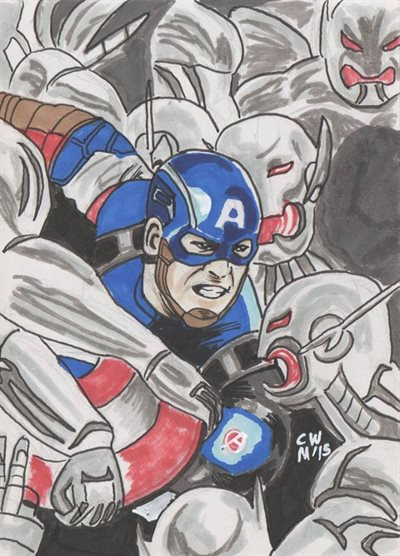 Cap AoU marker sketch by Christopher Masson
