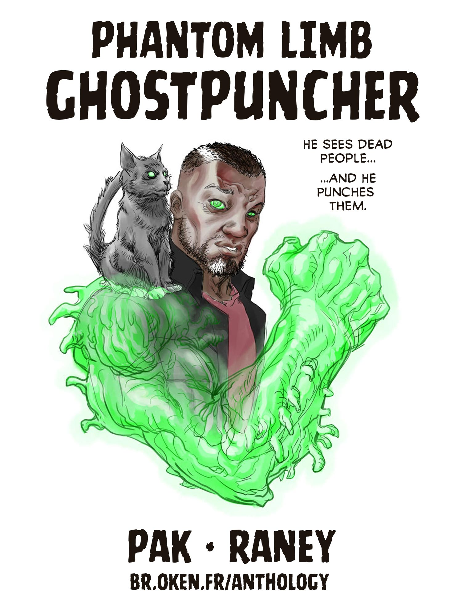 Greg Pak and Tom Raney's Phantom Limb Ghostpuncher and Art Jam in the Broken Frontier Anthology